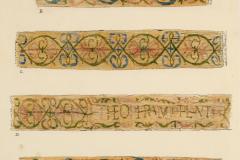 Az Egyetemi Könyvtár Cod. Lat. 3 (A), 10 (B), 1 (C, D), 6 (E) és 5 (F) jelzetű kódexeinek metszése (Végh Gyula akvarellje)