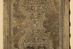 A bécsi Cod. 1391 jelzetű kódex háttáblája (Végh Gyula akvarellje)